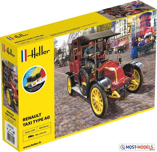 1:24 Heller 30705 Renault Taxi Type AG