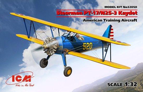 1:32 ICM 32050 Stearman PT-17/N2S-3 Kaydet – American Training Aircraft