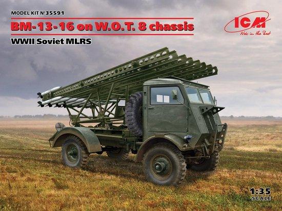 1:35 ICM 35591 BM-13-16 on W.O.T. 8 chassis – WWII Soviet MLRS