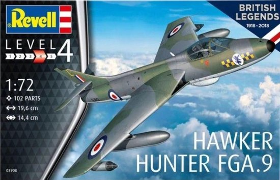 Hawker Hunter FGA.9 Revell schaal 172