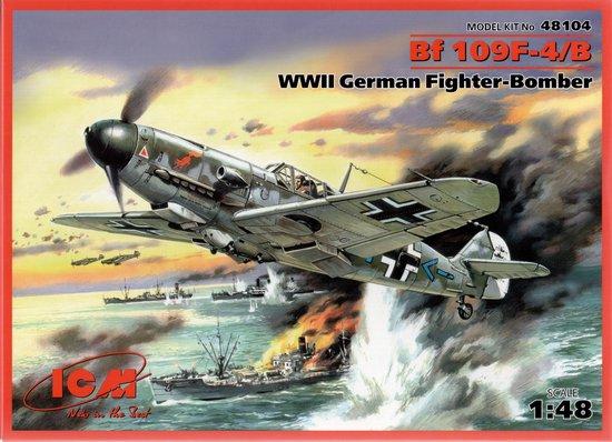 ICM Bf 109F-4/B German Fighter- Bomber + Tamiya lijm