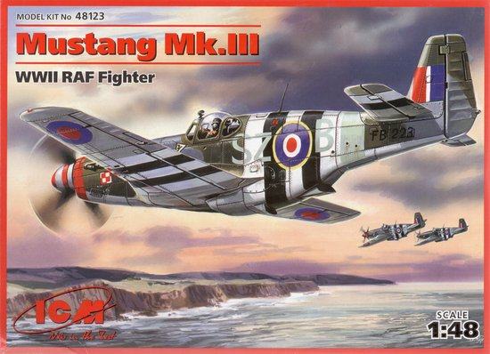 ICM Mustang Mk.III WWII RAF Fighter + Tamiya Lijm