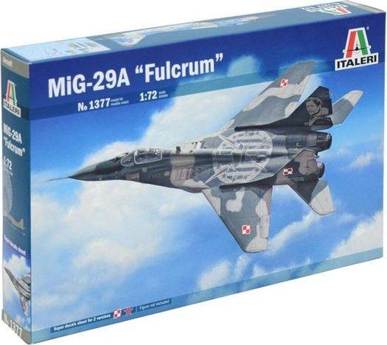 "Italeri MIG 29A ""Fulcrum"" 1:72 Montagekit Vliegtuig met vaste vleugels"