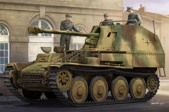 Military Marder III Ausf. M Tank Destroyer SD.KFZ.138 Late