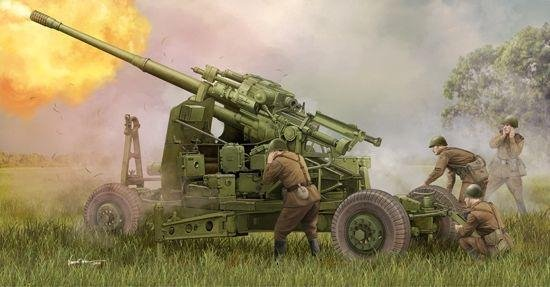 Military Soviet 100mm Air Defence Gun KS-19M2