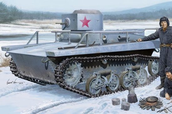 Military Soviet T-37TU Command Tank