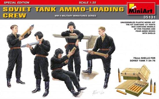 MiniArt Soviet Tank Ammo-Loading Crew + Tamiya lijm