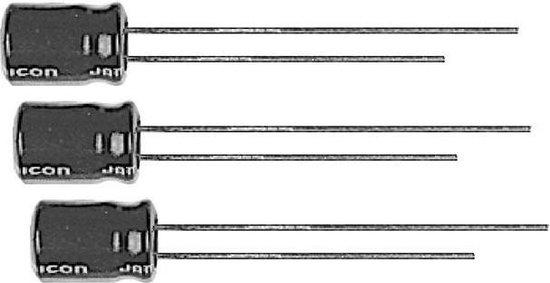 Set van 20 mini condensatoren 100uF / 16Volt