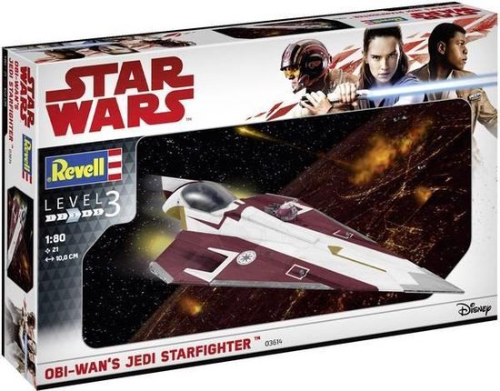 Star wars – Bouwpakket – Jedi – StarFighter – Science Fiction – Revell – 03614 -Displaystandaard – Kerstcadeau – Sinterklaascadeau
