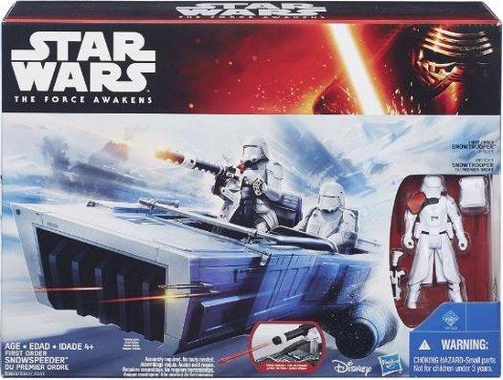 Star Wars: The Force Awakens First Order Snowspeeder voertuig + Stormtrooper figuur
