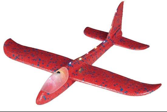 Zweefvliegtuig met LED verlichting – rood – uniek sinterklaascadeau – Moses